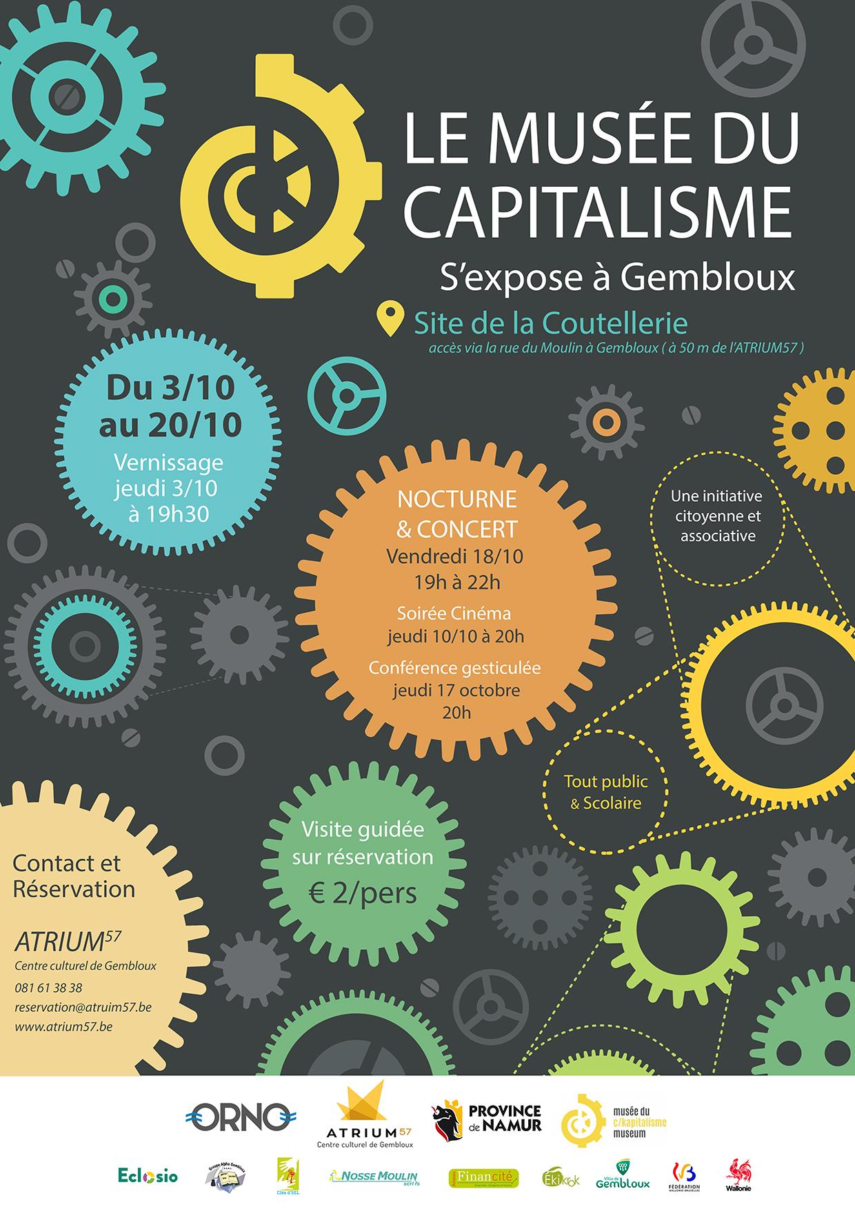 Le Musée du Capitalisme s'installe à Gembloux du 3 au 20 octobre 2019!